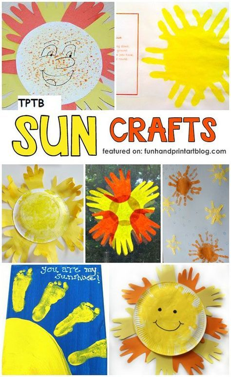 Handprint Sun Craft Ideas Cheerful Summer Projects For Kids
