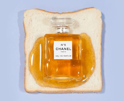 Chanel NO.5 Perfume honey toast | Anna Pogossova Conceptual #art