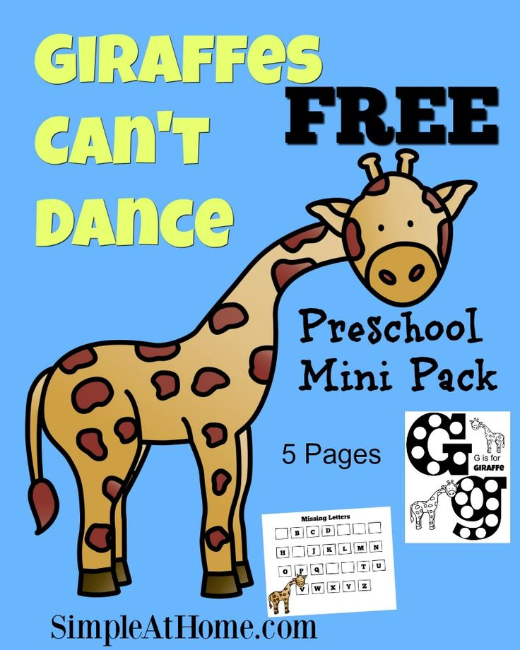 Giraffes Cant Dance Resources on Story Time Giraffes Cant Dance