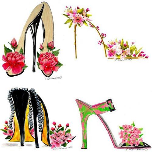 heel illustrations by elena feliciano