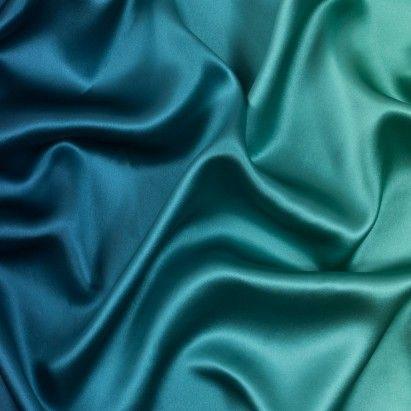 New! Green and Blue Ombred Silk Charmeuse Fabric by the Yard | Mood Fabrics