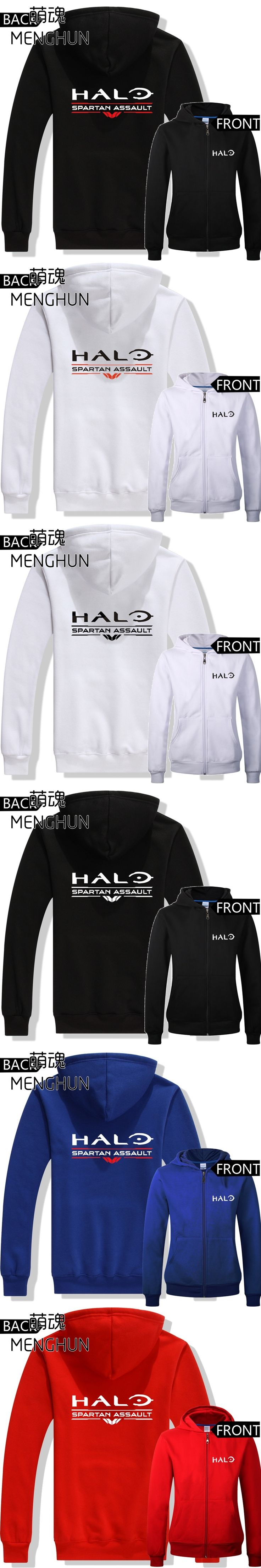 Cool game fans daily wear Autumn winter hoodies Game HALO spartan assault new game fans printing hoodies men's costume ac591