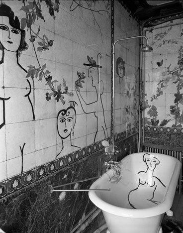 Bathroom by Saul Steinberg.
