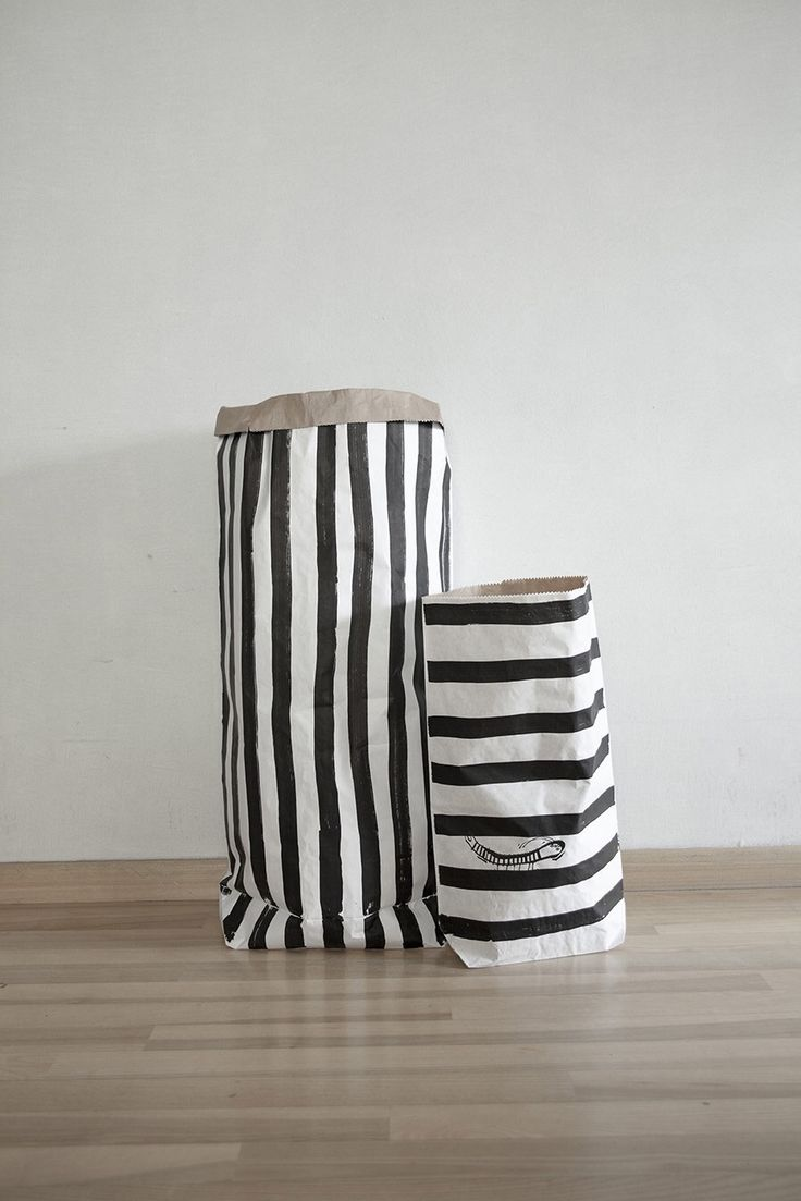 Striped Paper Storage Bags