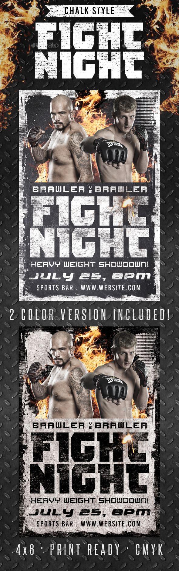 Chalk Fight Night MMA Boxing Flyer