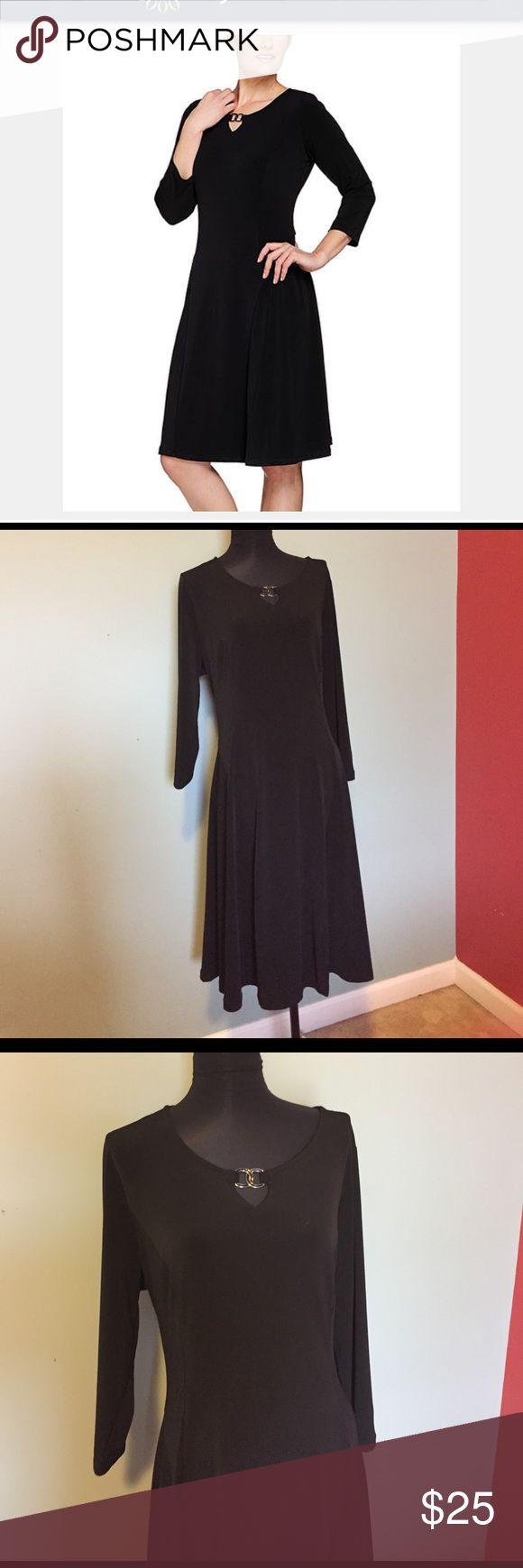 """Susan Graver black dress size L. Susan Graver black dress size L.   41"""" long, 21"""" bust. No iron needed. Polyester and Spandex. Susan Graver Dresses"""