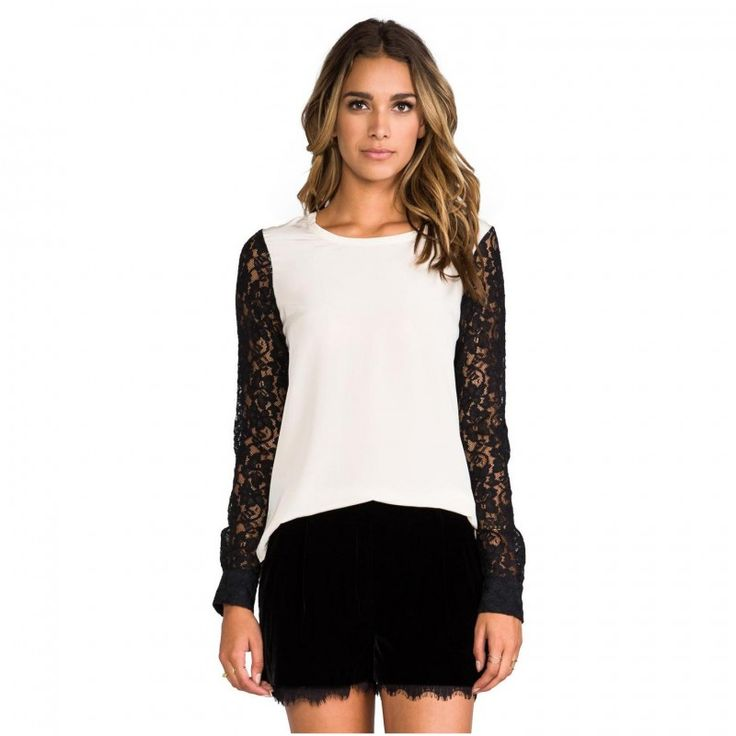 Lace Tops With Sleeves 3
