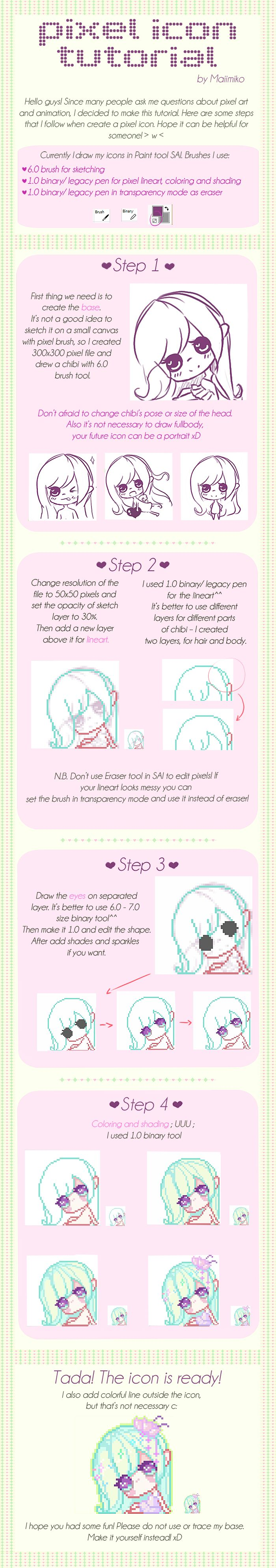 Pixel Icon Tutorial By Maiimikoiantart On @deviantart