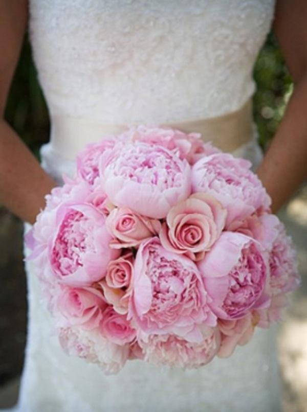 Light Pink Roses Wedding Bouquets : Light pink wedding bouquet of flowers weddingflowers
