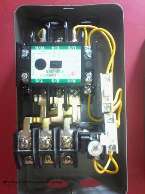 how to wire contactor and overload relay contactor. Black Bedroom Furniture Sets. Home Design Ideas