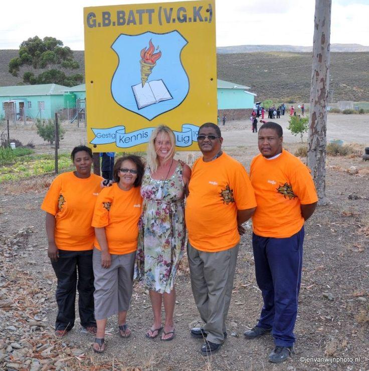 De G.B. Battschool in Montagu Zuid Afrika met Jen van Wijngaarden