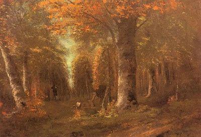 """. Gustave Courbet  """"La foresta in autunno"""""""