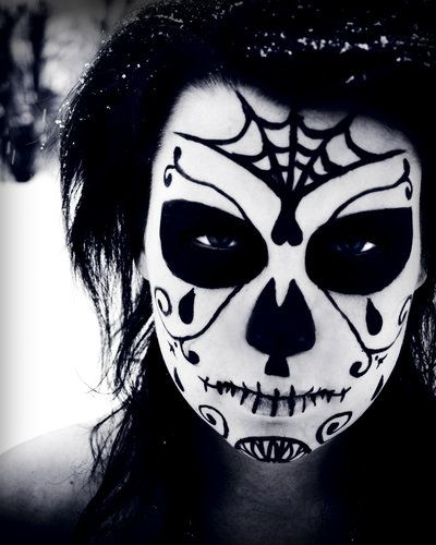 nice - looks mean.Face Makeup, Halloween Costumes, Halloween Makeup, Of The, Sugar Skull Makeup, Dead, Costumes Ideas, Face Painting, Halloween Ideas