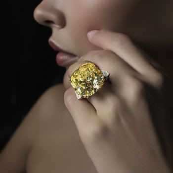 "Dear God This Is Gorgeous!!Graff ""Canary"" Diamond  I don't think it's too big, do you?"
