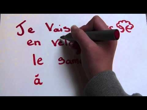 Le français facile - YouTube - illustrated simple sentence