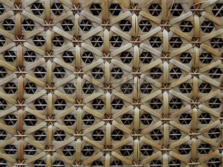 Bambu dokuma desen Tay el sanatlar  Stok Fotoğraf