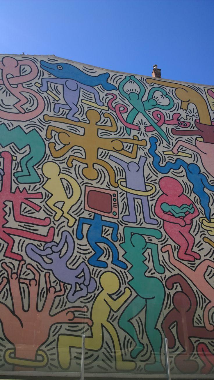 "Keith Haring's murale ""Tuttomondo"", Pisa Tuscany. www.toscanaontheroad.com"
