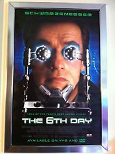 The 6th Day 2000 Movie Poster 27x40 Used Arnold Schwarzenegger, Michael Rapaport, Tony Goldwyn