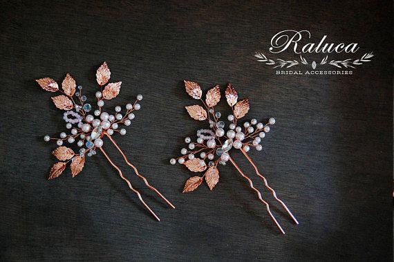 Bridal Hair Pin Accessories Rose Gold Pin Hair Accessory