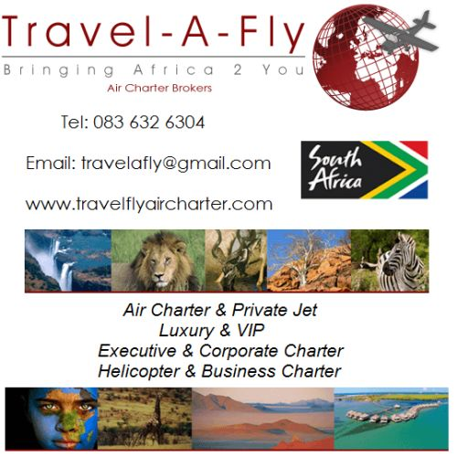 Travel-A-Fly Air Charter - Travel-A-Fly Air Charter specializes in private air charter in South Africa, Botswana, Mozambique, Namibia for V.I.P, corporate, business travel. Flights for private families, safari and mining.
