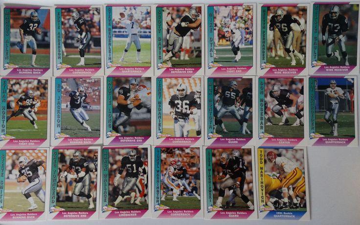 1991 Pacific Los Angeles Raiders Team Set of 20 Football Cards Missing Tim Brown #LosAngelesRaiders