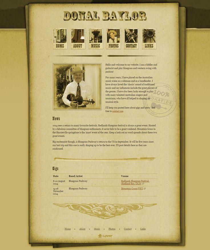 Donal Baylor | from Elfshot Web Design Folio