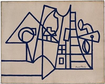 """stuart davis / """"american landscape"""" / 1932 - draw landscape without letting your pen leave the paper"""
