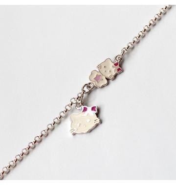 Srebrna bransoletka Hello Kitty #BiżuteriaDziecięca