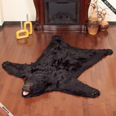 6.2 Foot Black Bear Rug #RU1102744