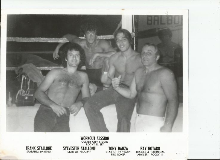 Tony Danza Sylvester & Frank Stallone and my Great-Grandfather after a workout session at his Gym in 1979