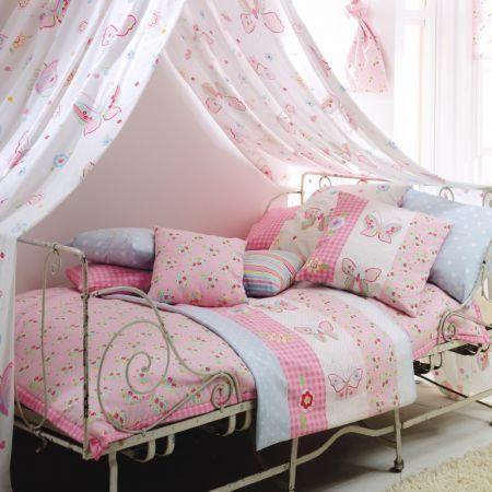 """Delightful - Clarke & Clarke """"Flutterby"""" bedspread, cushions and drapes"""