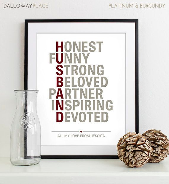 anniversary gifts for husband him mens gift for birthday husband romantic gift for groom gift from bride
