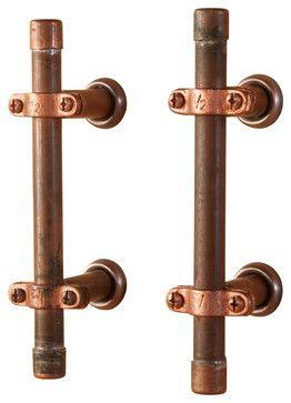 Industrial Copper Cabinet Handle - industrial - Cabinet And Drawer Handle Pulls - Nine & Twenty