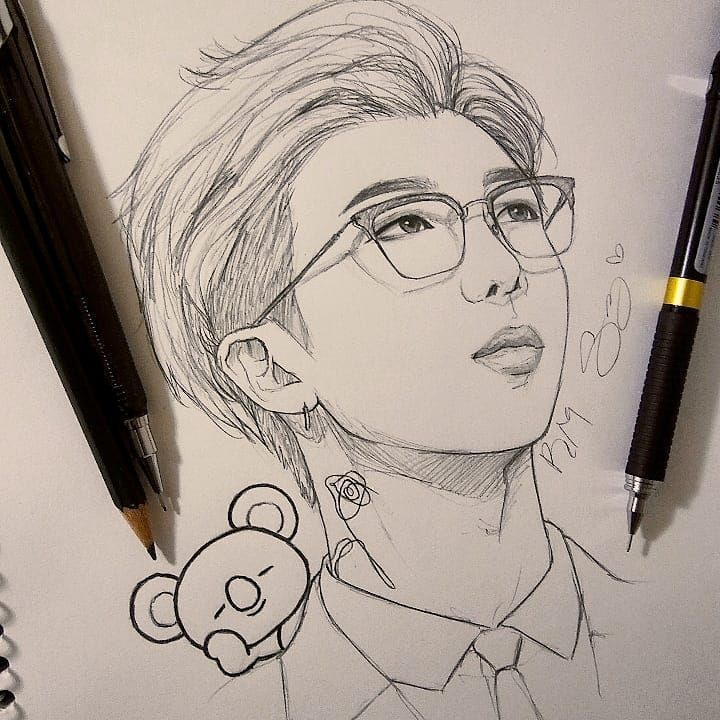 @stephdrawzzz {Awesome Leader Namjoon💜} this is… – #Awesome #dibujo #leader…