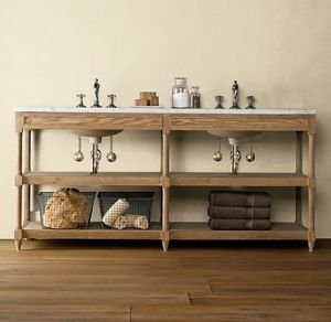 weathered oak double washstand traditional bathroom vanities and sink consoles other metro restoration hardware