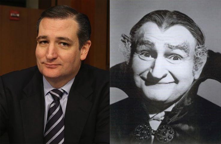 Ted Cruz & Grandpa Munster Are Twins