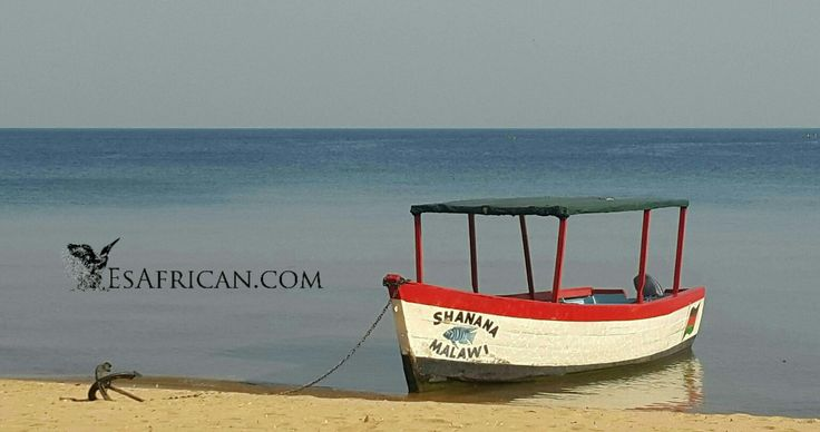 #Boat & #Anchor on the #beach @ #Fat #Monkeys #Cape #Maclear #Lake #Malawi