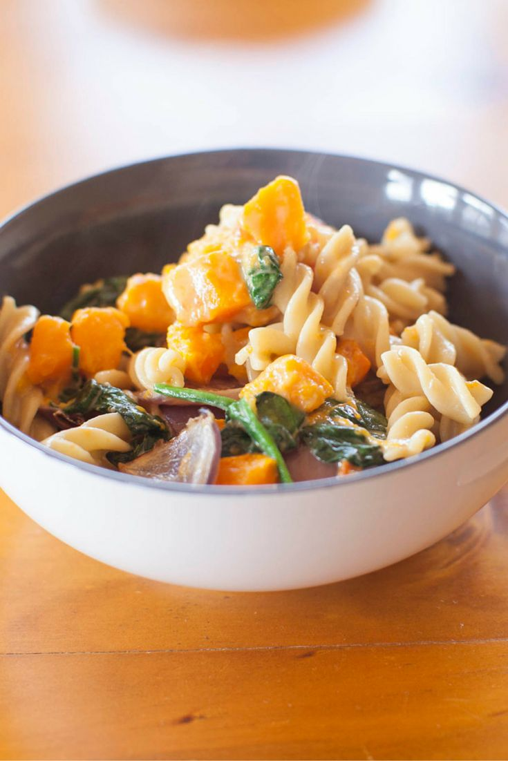 Gorgonzola & Pumpkin Pasta. Per Serve: 2030 kJ, 485 Calories, 3.0 exchanges. #Vegetarian #Type1Diabetes #Recipe