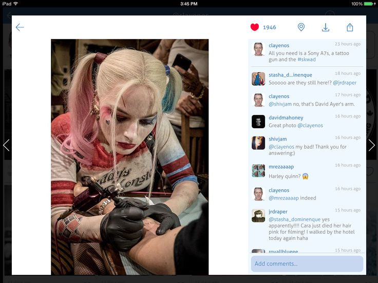Suicide Squad cast getting their #Skwad tattoos 2015