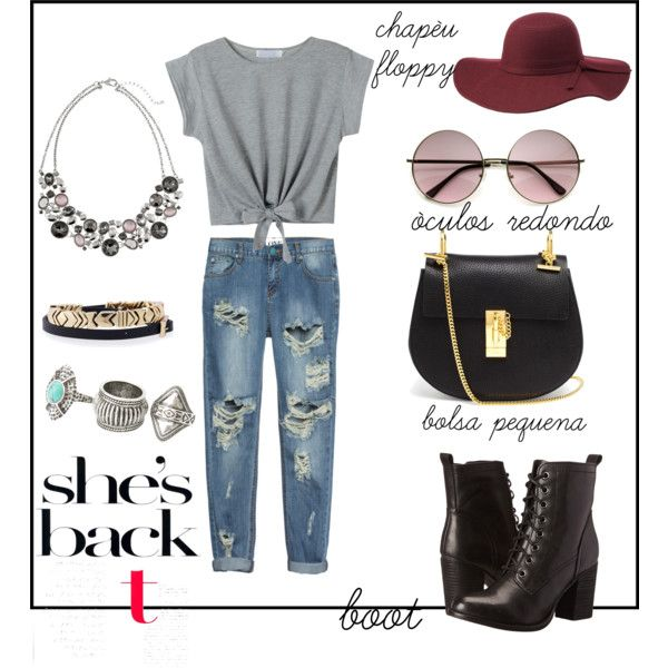 Sem título #191 by anna-carolina-sales on Polyvore featuring moda, One Teaspoon, Steve Madden, Chloé, White House Black Market, House of Harlow 1960, MANGO and Charlotte Russe
