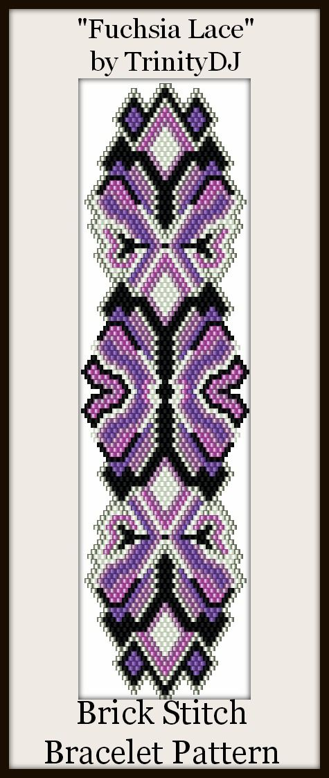 """Another new Brick stitch pattern for next week """"Fuchsia Lace"""". The pattern and kit will be available early next week."""