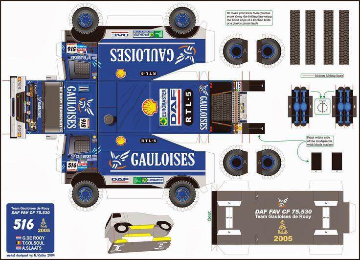 Truck Paper Model Papercraft | Publicadas por papelmania dakar a la/s 23:06 No hay comentarios.: