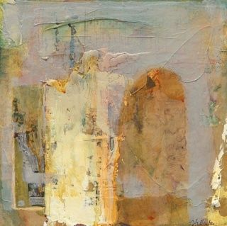 Contemporary Abstract Mixed Media Painting Veiled Answers by Intuitive Artist Joan Fullerton -- Joan Fullerton