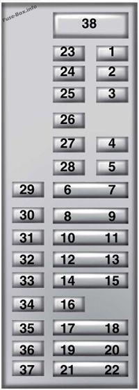 Instrument Panel Fuse Box Diagram  Ford Fusion  2013  2014