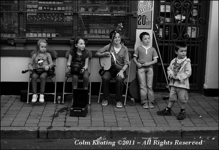 Young Musicians at the Cavan Fleadh, 2010  When you see children this age playing with confidence on the streets you know that Traditional Irish Music is in safe hands.