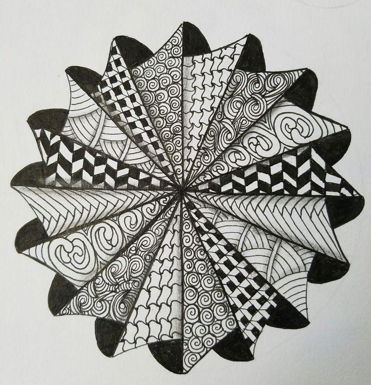 drawing zentangle mandala zentangles patterns designs drawings draw mandalas doodles easy doodle zen desenhos boomeresque simple pencil 3d pattern voor