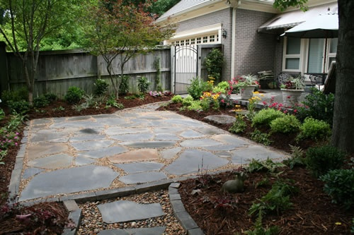 Harrington Residence Blue Stone Flagstone Patio With Pea