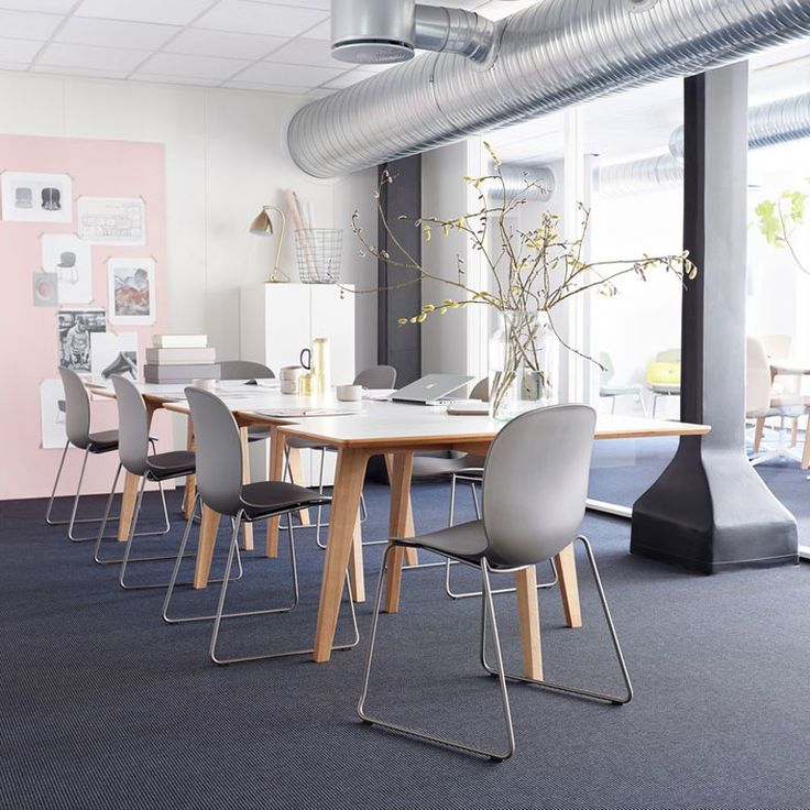 RBM Noor is a collection of canteen and conference chairs adding vitality to working spaces and sociable places #ScandinavianBusinessSeating