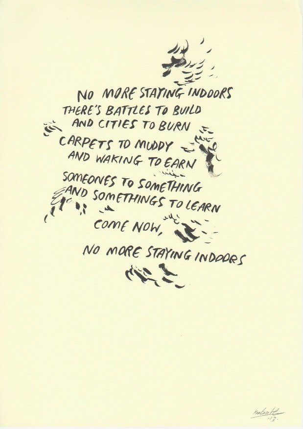 """<p class=""""caption-para""""><b>Keaton Henson</b><br /><i>Staying Indoors</i>, 2013<br />Signed & dated<br />Ink and Pencil on Paper<br />21.0 x 29.7 cm<br />(KH077)<br /><br />£ 295.00</p>"""