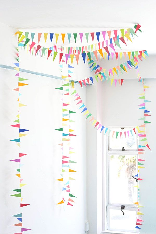 Rainbow Triangle Bunting DIY | Oh Happy Day